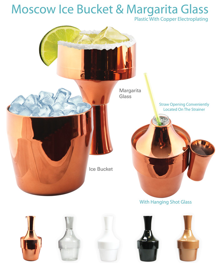 Moscow Mule Margarita Glass & Ice Bucket
